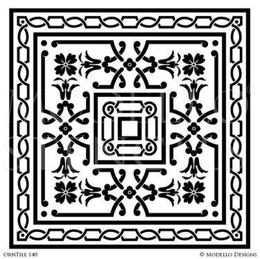 Painting Decorative Concrete Ideas with Custom Stencil Designs - Modello Vinyl Stencils