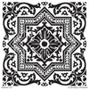 Mediterranean Tiles Stencils - Custom Painted Ceiling, Wall Art, Floor Makeover