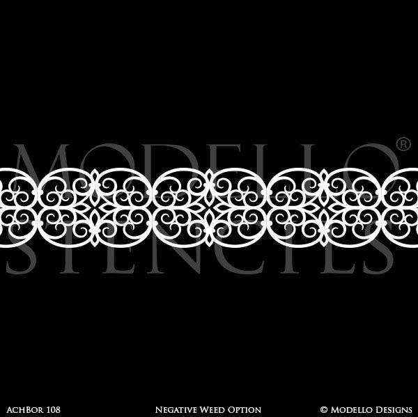 Architectural Design and Decor with Ceiling Border Stencils - Modello Custom Stencils