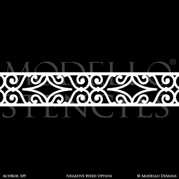 Decorative Border Stencils for Custom Wall Art or Ceiling Designs - Modello Stencils
