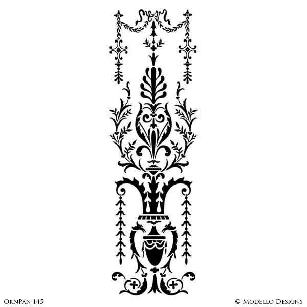 Painting Custom Panel Stencils and Large Wall Mural or Stenciled Ceiling - Modello Custom Stencils