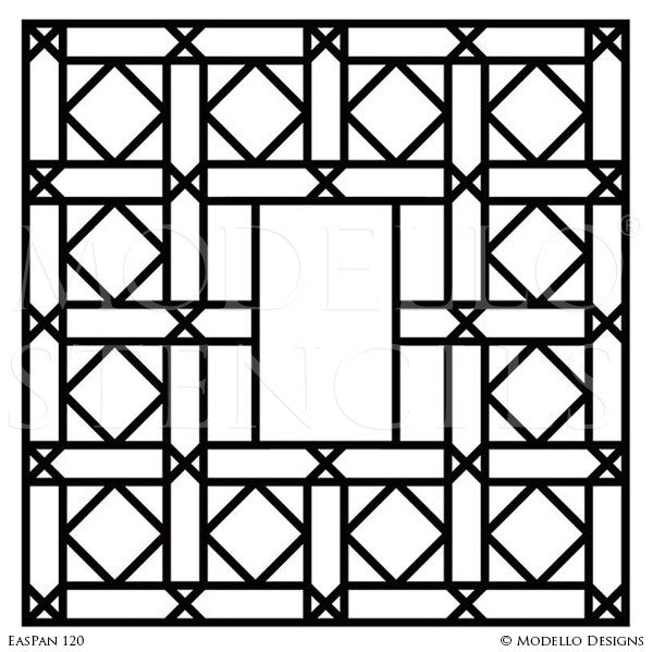 large panel wall art stencils for custom painted doors glass mirror modello stencils