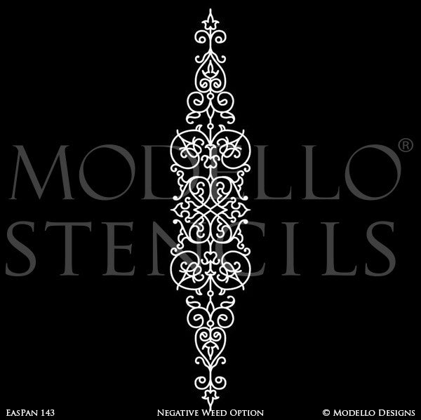 Wall Art and Wall Mural Panels Painted onto Custom Home Decor Projects - Modello Custom Stencils