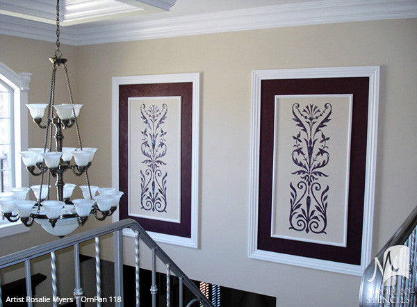 ... Tall Large Door Wall Window Panel Stencils For Vintage Ornamental Style  Decorating   Modello Custom Wall