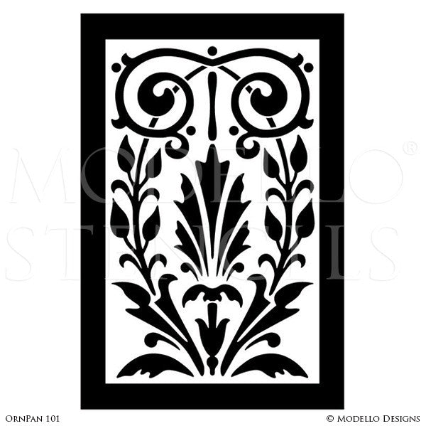 Decorative Wall Stencils painted large wall art graphics stencils - custom modello stencils