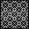Modern or Tribal or Asian Decorating Idea using Large Geometric Pattern Wall Stencils - Modello Designs