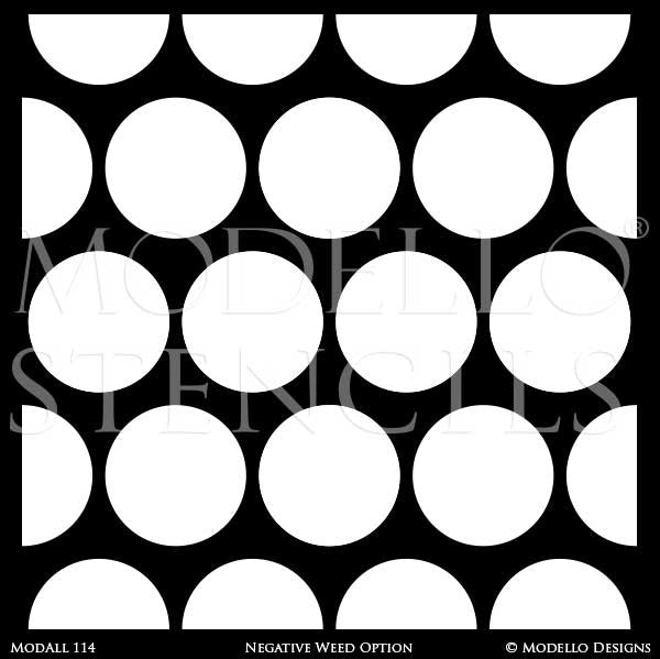 Designer Custom Stencils for Large Painted Home Decor - Modello Wall Window Floor Panels