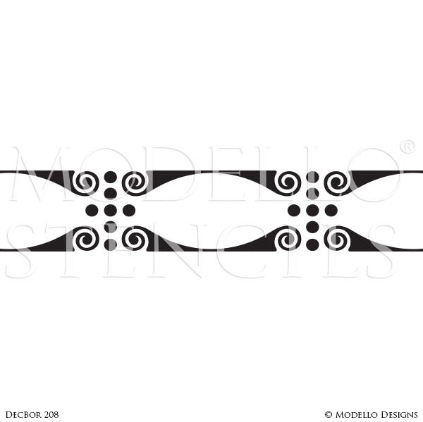 Decorative Painting Floor or Ceiling Borders - Modello Custom Designer Stencils