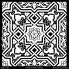 Large Moroccan Tile Stencils for Painting and Decorating Custom Decor - Modello Custom Stencils