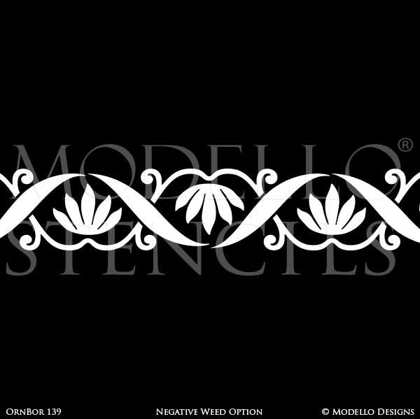 Custom Border Stencils For Painting Walls U0026 Ceilings ...