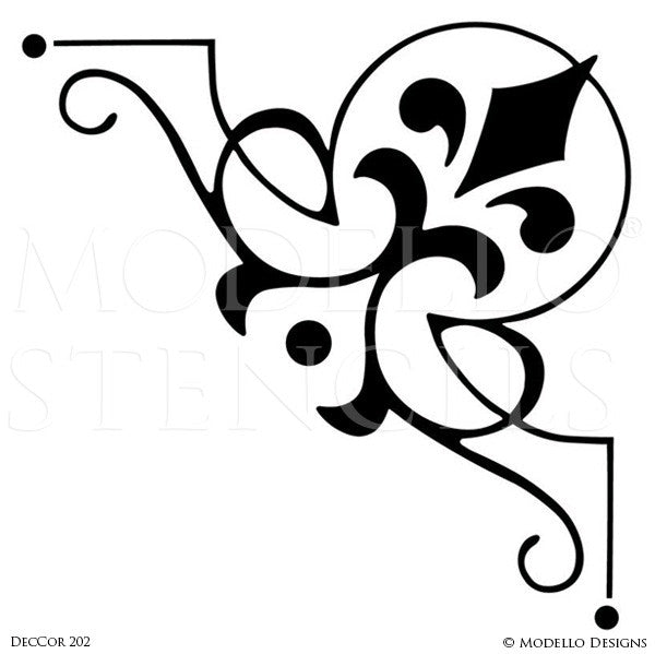 Large or Small Corners to Paint on Ceiling, Wall, or Floor - Modello Custom Stencils