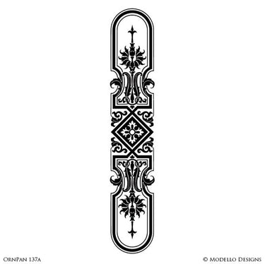 Painted Archway for Entry or Wall Art Door Decor Designs - Custom Modello Wall Panel Stencils