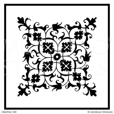 Tile Stencil Art for Decorative Painting Projects - Modello Custom Stencils