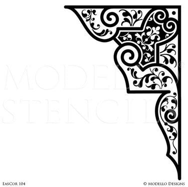 Moroccan, Asian, Indian Decor Ideas and Exotic Interiors - Custom Wall Art and Painted Ceiling Stencils