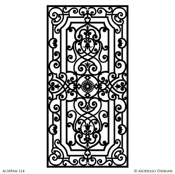 Charmant Classic European Panel Stencils For Painting Walls And Furniture And Doors  And Glass Mirror   Modello