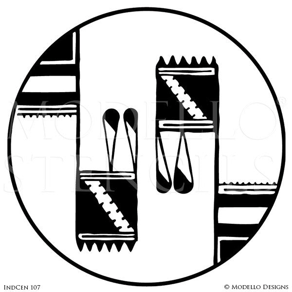 Indian and Tribal Decor and Modern Interiors - Modello Custom Medallion Stencils