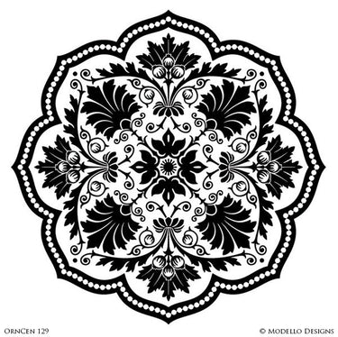 Decorative Medallions and Stencil Patterns for Painting Ceilings - Modello Custom Stencils