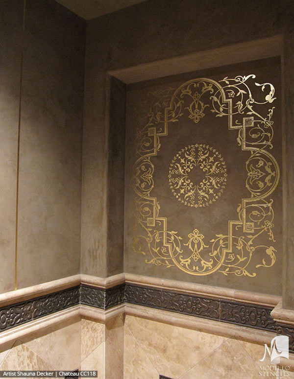 Decorative Wall Art Stencils with Large Classic Designs