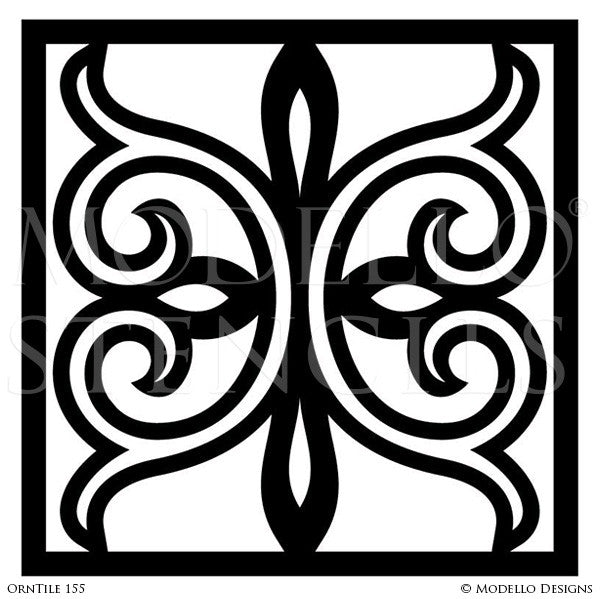 Tiles for Easy Decorative Painting and Stenciling - Modello Custom Stencils