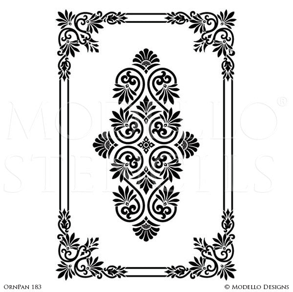 Designer Custom Stencils for Large Painted Home Decor - Modello Wall Window Panels