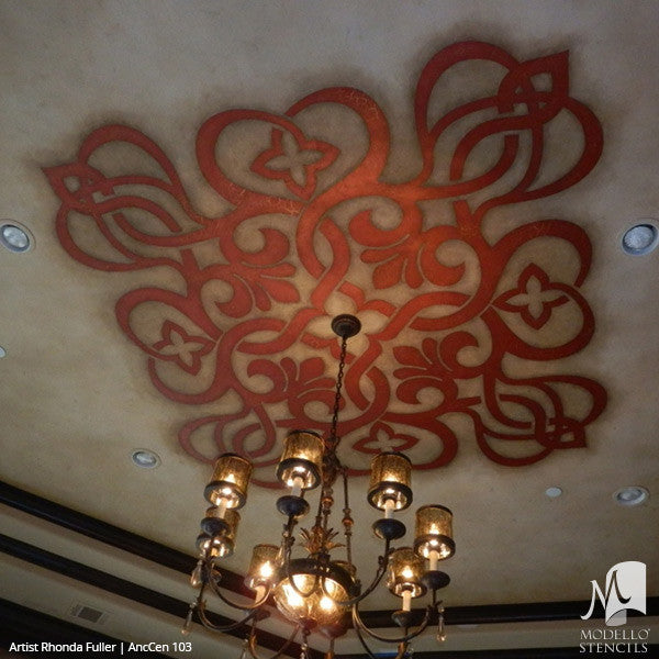 Classic European Ceiling Medallion Stencils for Painting Custom Home Decor