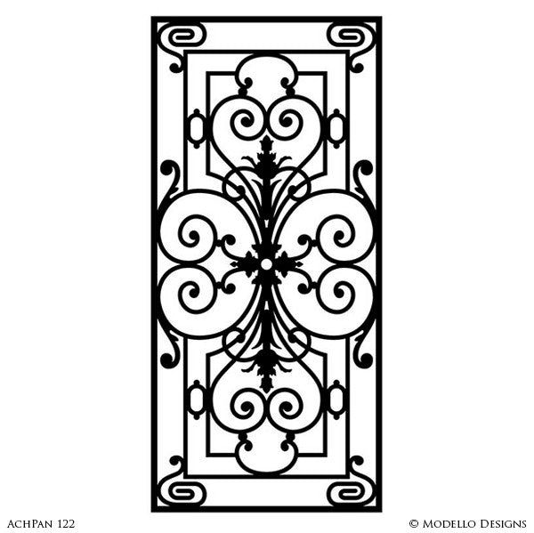 Classic Wall Panel Stencils for Painting Wall Decor, Doors, Glass Mirror - Modello Custom Stencils