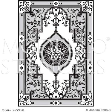 Paint Ceilings, Floors, Concrete with Large Designer Art Stencils - Stenciled Designs - Modello Custom Stencils