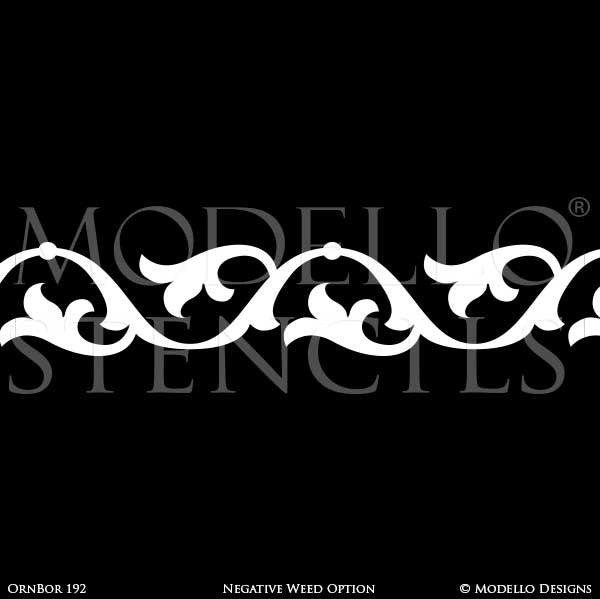 Painting Custom Borders Stencils and Large Wall Mural or Stenciled Ceiling - Modello Custom Stencils