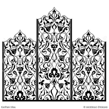 Decorative Wall Panels Stenciling Custom Designs - Modello Wall Stencils