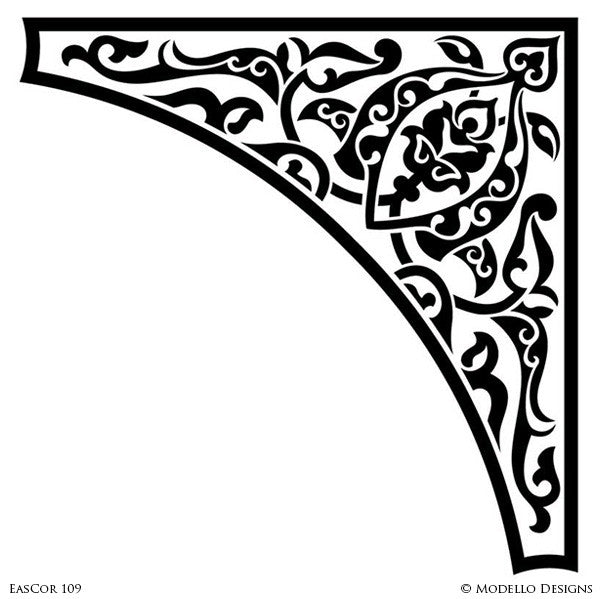 Modello Custom Stencils - Painted Decorative Stencils for Stenciling Tradtional Home Decor