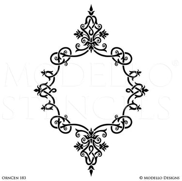 Decorating Floors and Walls with Classic Style and Medallion Stencils - Modello Custom Stencils
