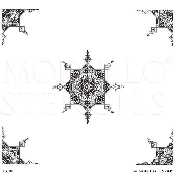 CS400 Custom Ceiling Stencils Set