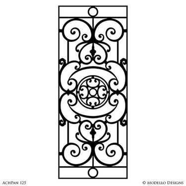 Traditional Panel Designs for Wall Mural Painting Projects and Decorative Ceilings - Modello Custom Stencils