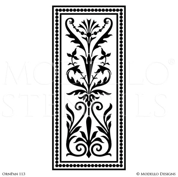 Custom Cut Stencils for Painting Wall Art and Wall Panels with Large Patterns - Modello Custom Self Adhesive Stenciling