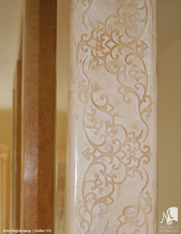 Custom Border Stencils For Painting Walls & Ceilings - Modello