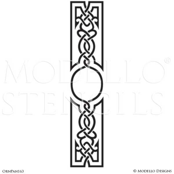 Tall Large Door Wall Window Panel Stencils for Ornamental Style Decorating - Modello Custom Wall Stencils