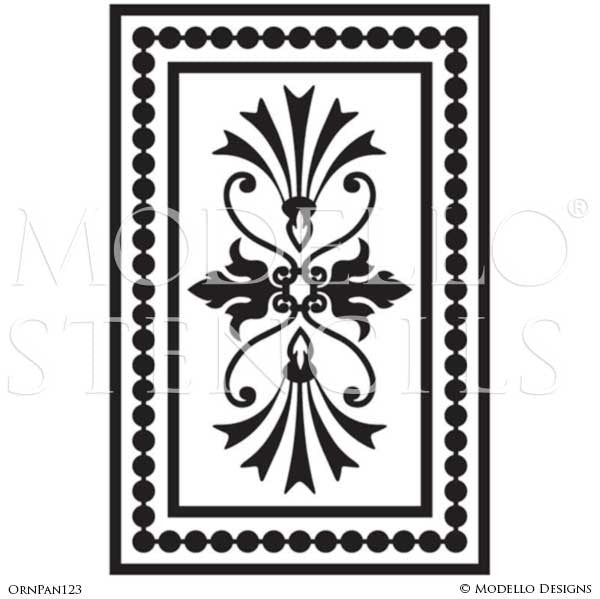 Stenciling and Painting Ceilings and Wall Designs with Ornamental Panel Wall Designs - Modello Custom Vinyl Stencils