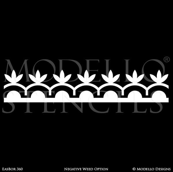 Border Decals for Painting and Stenciling Custom Wall and Ceiling Designs - Modello Stencils