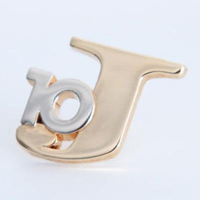 Gold 10-J Lapel Pin