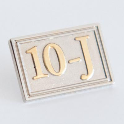 Rectangular 10-J Lapel Pin