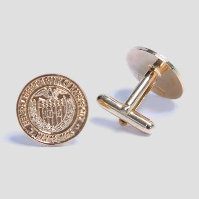 24K Gold-plated Seal Cuff Links