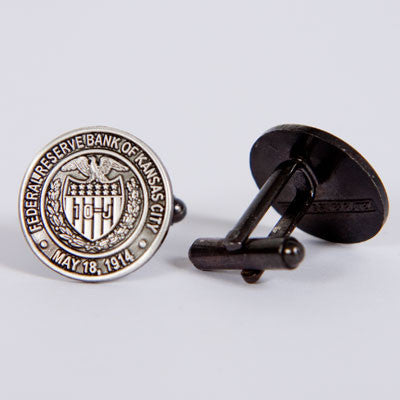 Sterling Silver-plated Seal Cufflinks
