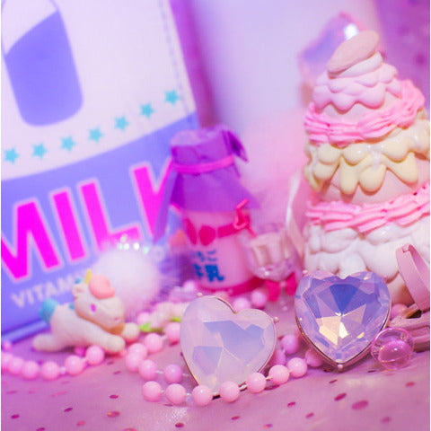 Princess Heart Rings - Strawberry Milk Bottle