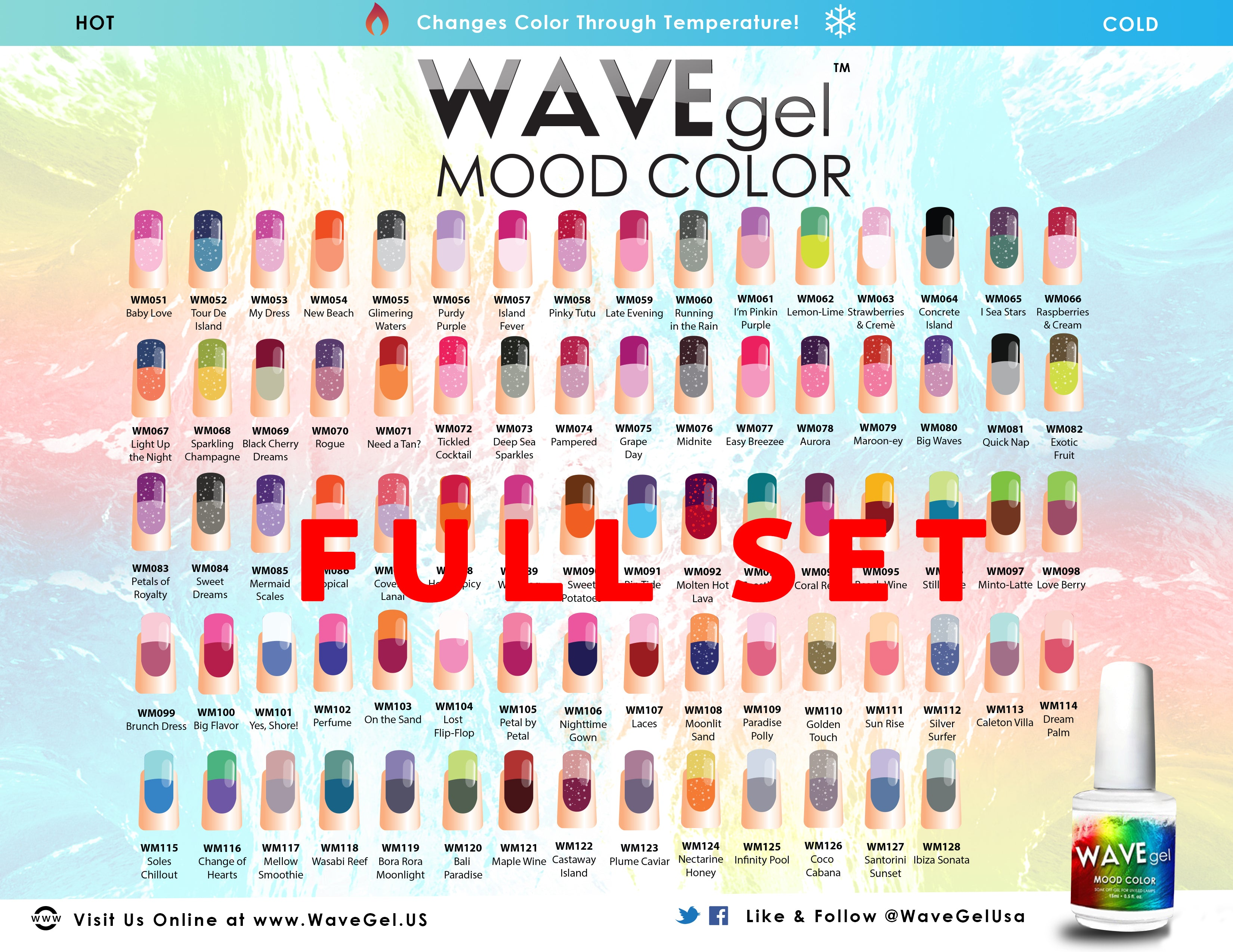 Complete Wavegel Mood Change Gel 78 Colors Rush Hour Beauty Supply