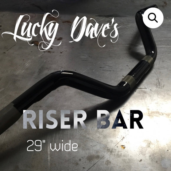 Black Lucky Dave's Riser Bar (black)