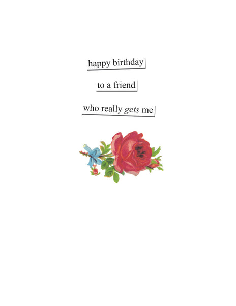 What's Her Face Birthday Card