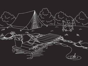 Chalkboard Camping Placemat