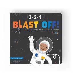 3-2-1 Blast Off Lift the Flap Book - Aspen Lane