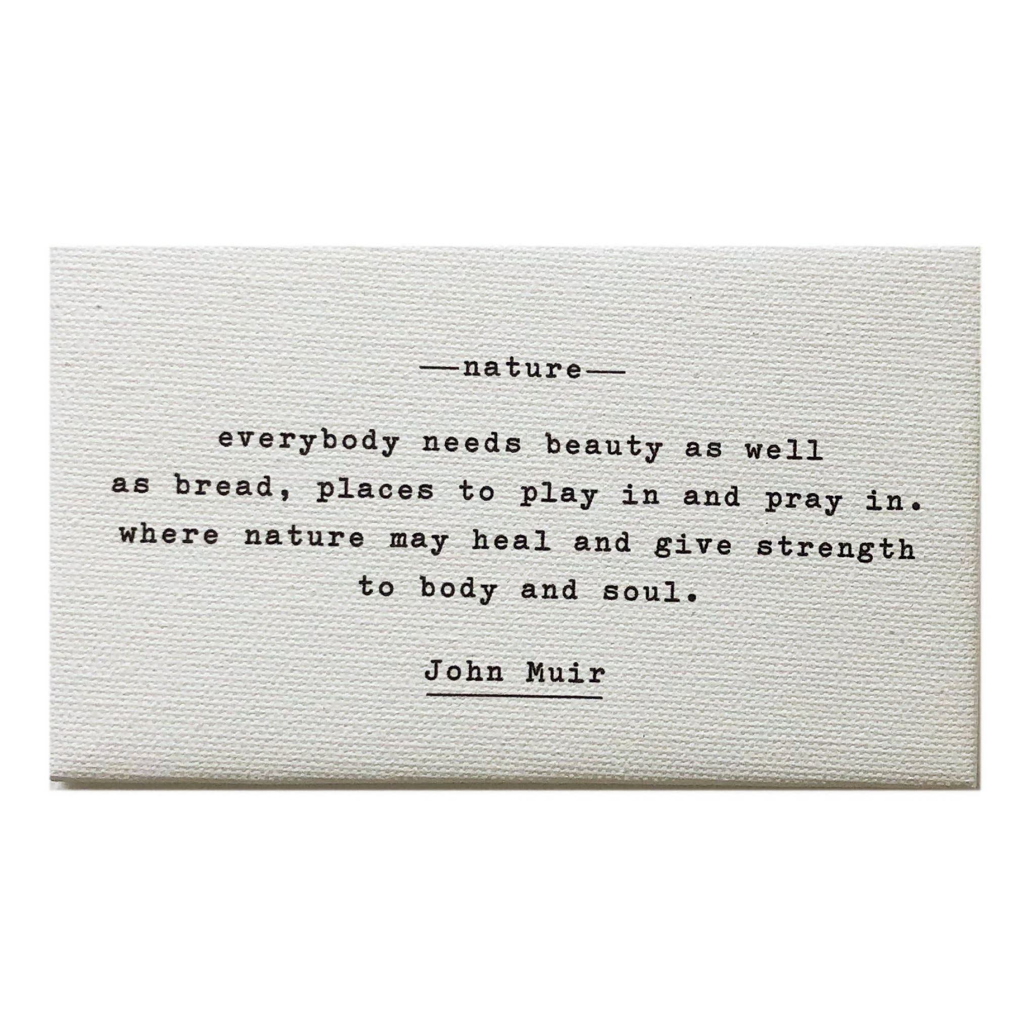 Nature - Muir Quote Magnet