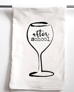 After School Wine Flour Sack Towel - Aspen Lane